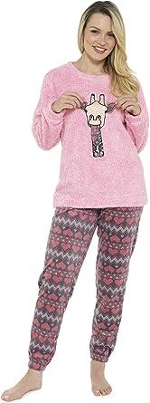 Pijama de Pijamas cómodos Pijamas Snuggle Pijamas cálidos Pijama Twosie Set   Desgaste de Lujo del salón Suave para Las Mujeres para Las Mujeres