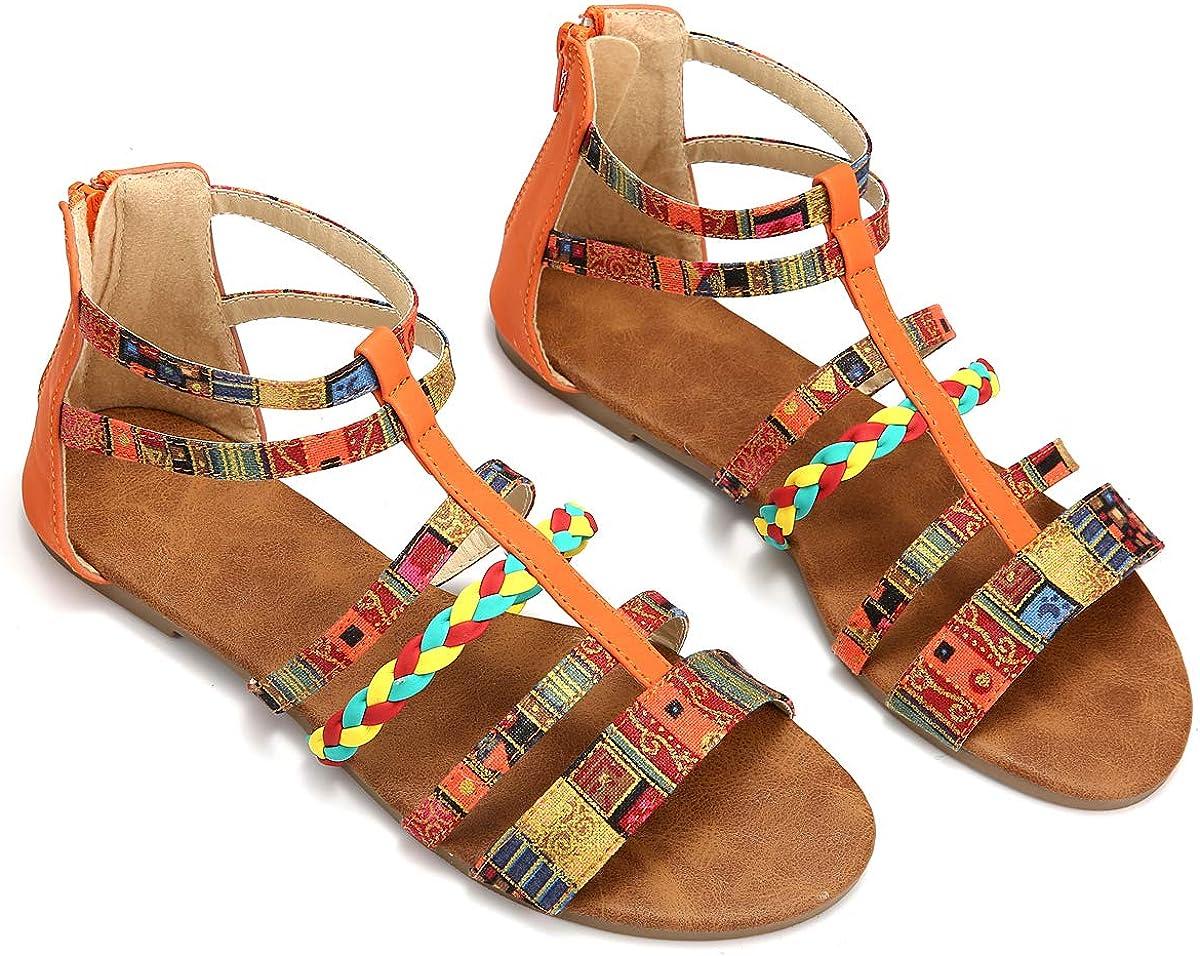 Camfosy Summer Flat Sandals for Women