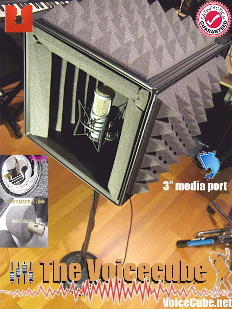 #1 Pro level Portable vocal booth for you misrophone - The Voicecube The Voicecube.com