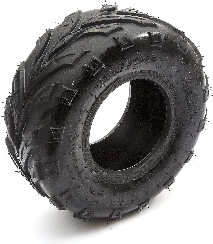 2x Knobbly Tyre /& Wheel Rim 145//70-6 Kazuma Meerkat 50cc Quad Bike ATV Front Rear