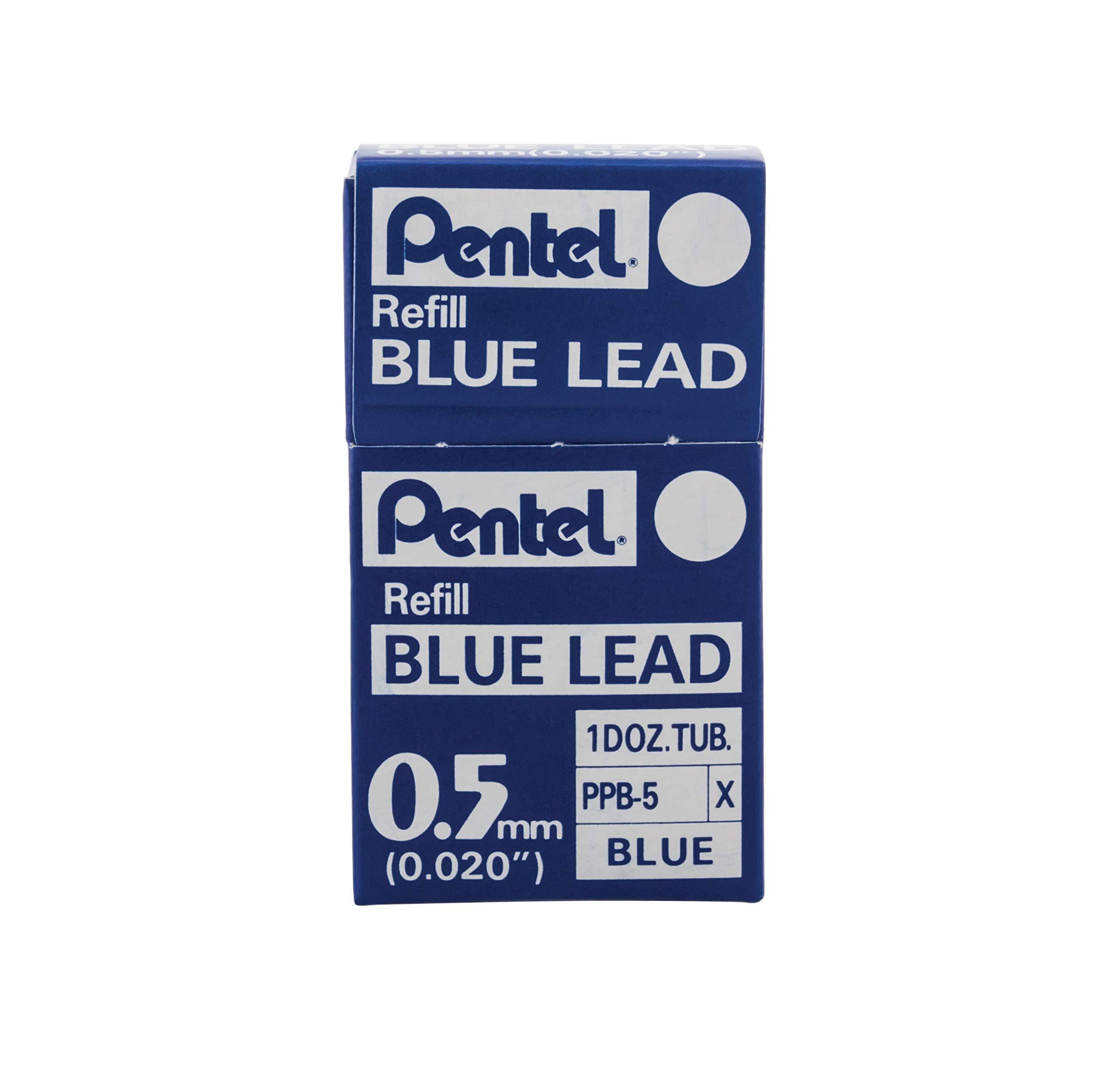 Pentel Refill Lead Blue (0.5mm) Medium 12 Pcs/Tube, 12 Tubes of Lead (PPB-5) by Pentel (Image #3)