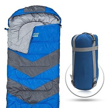 Sleeping Bag Envelope Lightweight Portable Waterproof Comfort With Compression Sack