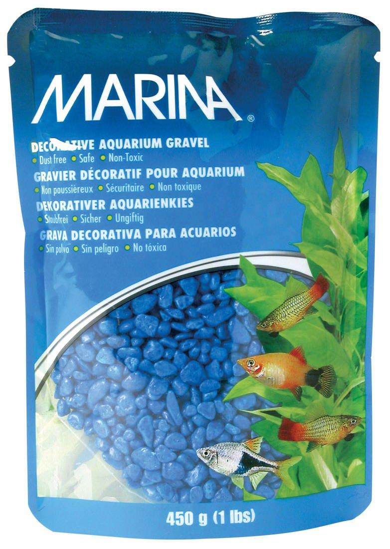 Marina Decorative Aquarium Gravel bluee 450g (Pack of 6)