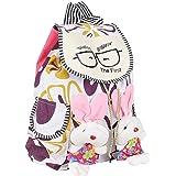Kreative Bags Women's Backpack Handbag, Multicolor