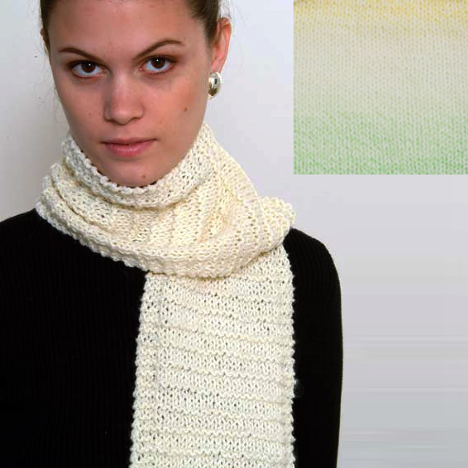 Raspberry Drift Beginners Scarf Knit Kit with Encore Worsted Yarn