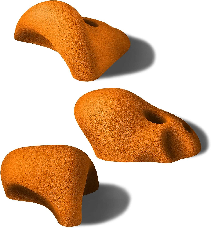 ALPIDEX 8 L//XL Klettergriffe verschieden geformte Henkelgriffe mitteltiefe Hinterschneidungen