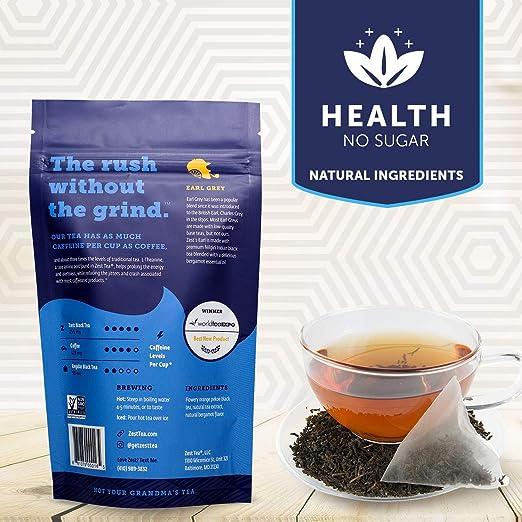 Bergamot Flavor, Natural Caffeine, Natural Tea Extract