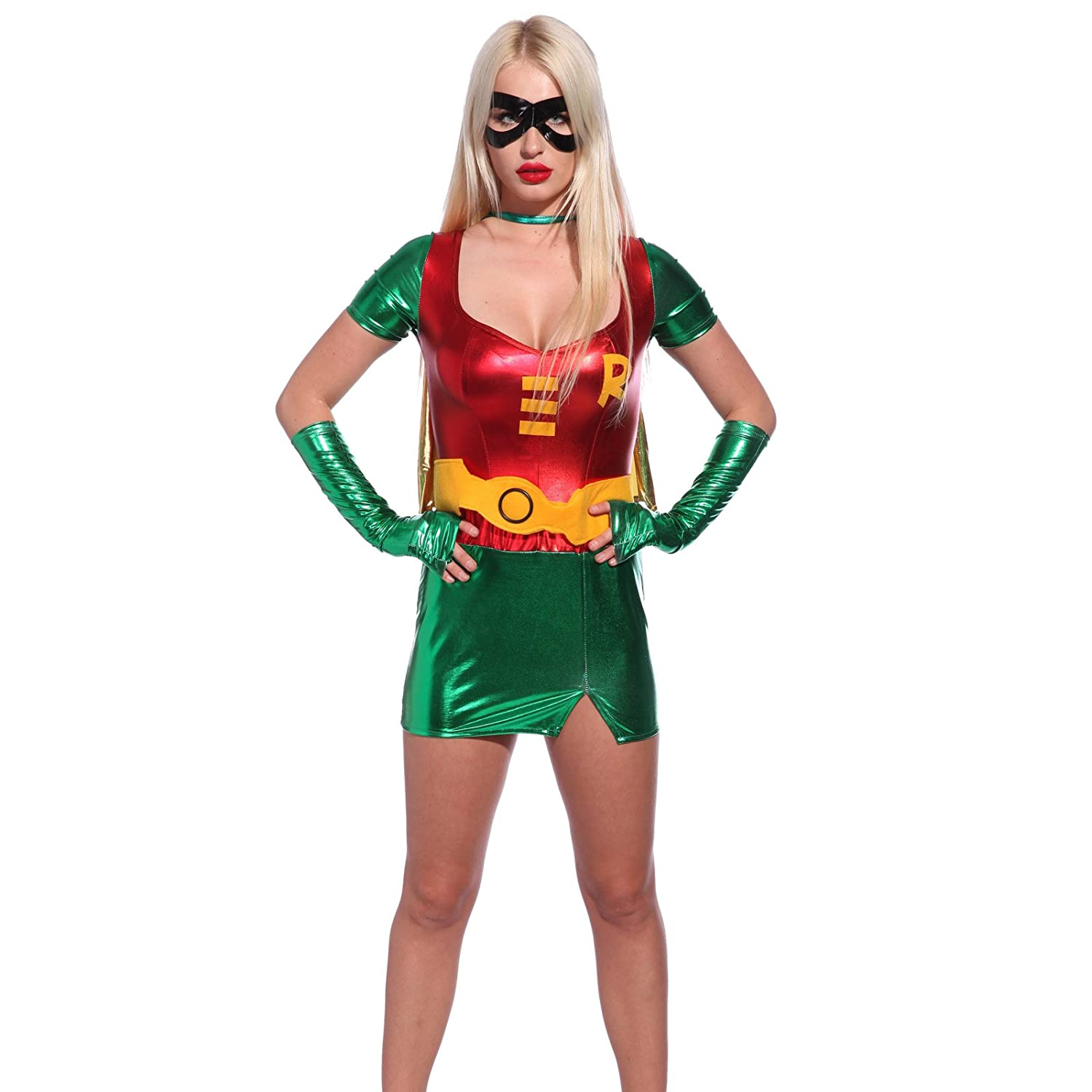 Sexy Super hero Superwoman Fancy Dress Role Play Outfit Comic Book Movie Costume