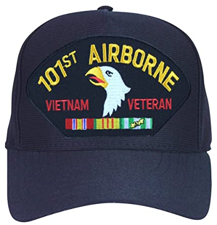 MilitaryBest 101st Airborne Vietnam Veteran with Ribbons Ball Cap with  Custom Back Text 7bf973a6f1a0