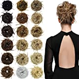 EMERLILY Messy Bun Hair Piece Synthetic Scrunchy Tousled Updo Hair Extensions Ponytail Curly Hair Pieces for Women