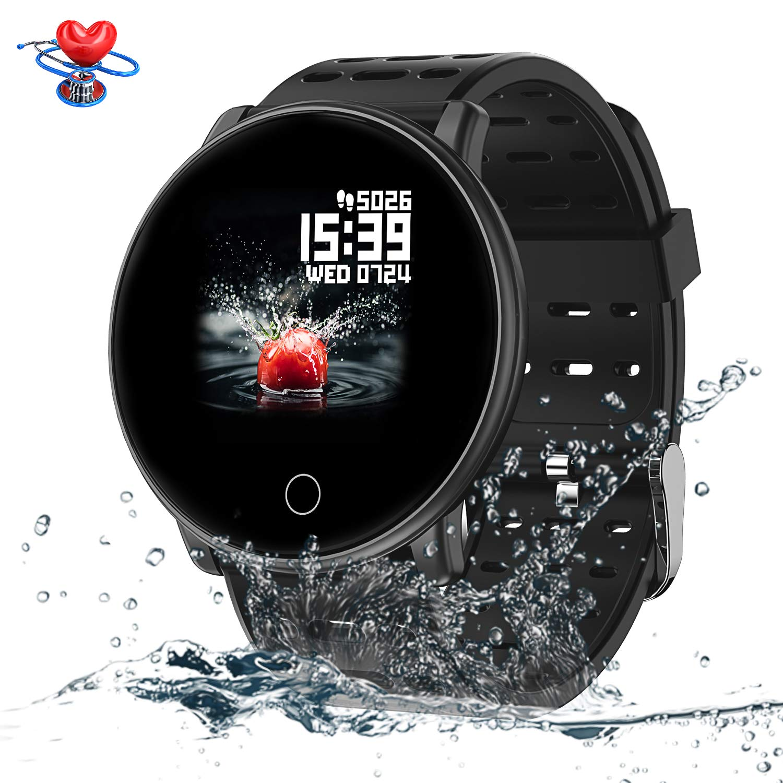 SYNERKY Reloj Inteligente Pantalla Táctil Completa Pulsera de Actividad Smartwatch Mujer Hombre Niño Reloj Deportivo a Prueba de Nadar Impermeable ...