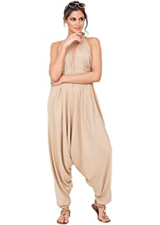 91f9f6951c9 Re Tech UK Ladies Baggy Harem Jumpsuit Romper Sleeveless All in One ...