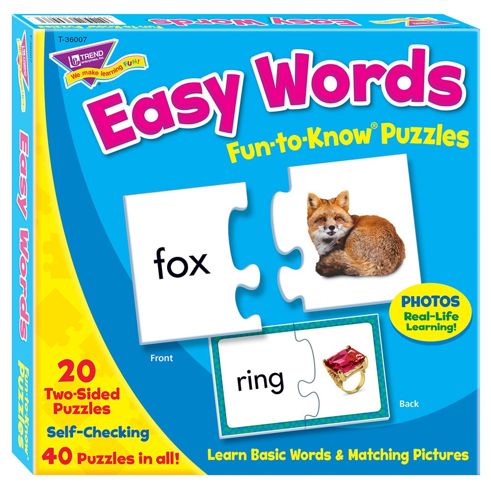 Amazon.com: Fun-to-Know® Puzzles: Easy Words: Toys & Games