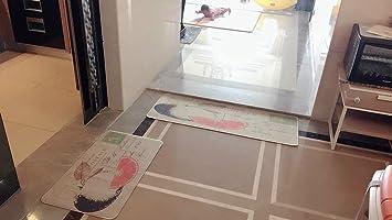 Non Slip Kitchen Mat Rug Polyester Kitchen Floor Mat Doormat Fiber With  Rubber Backed Mat