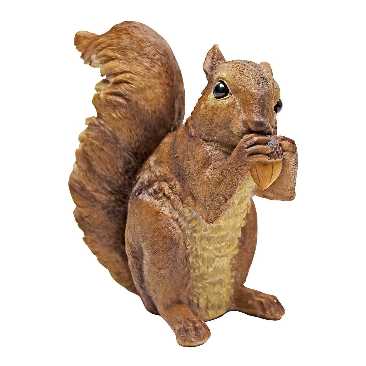 Design Toscano Chomper The Woodland Squirrel Outdoor Garden Statue, 7 Inch, Polyresin,