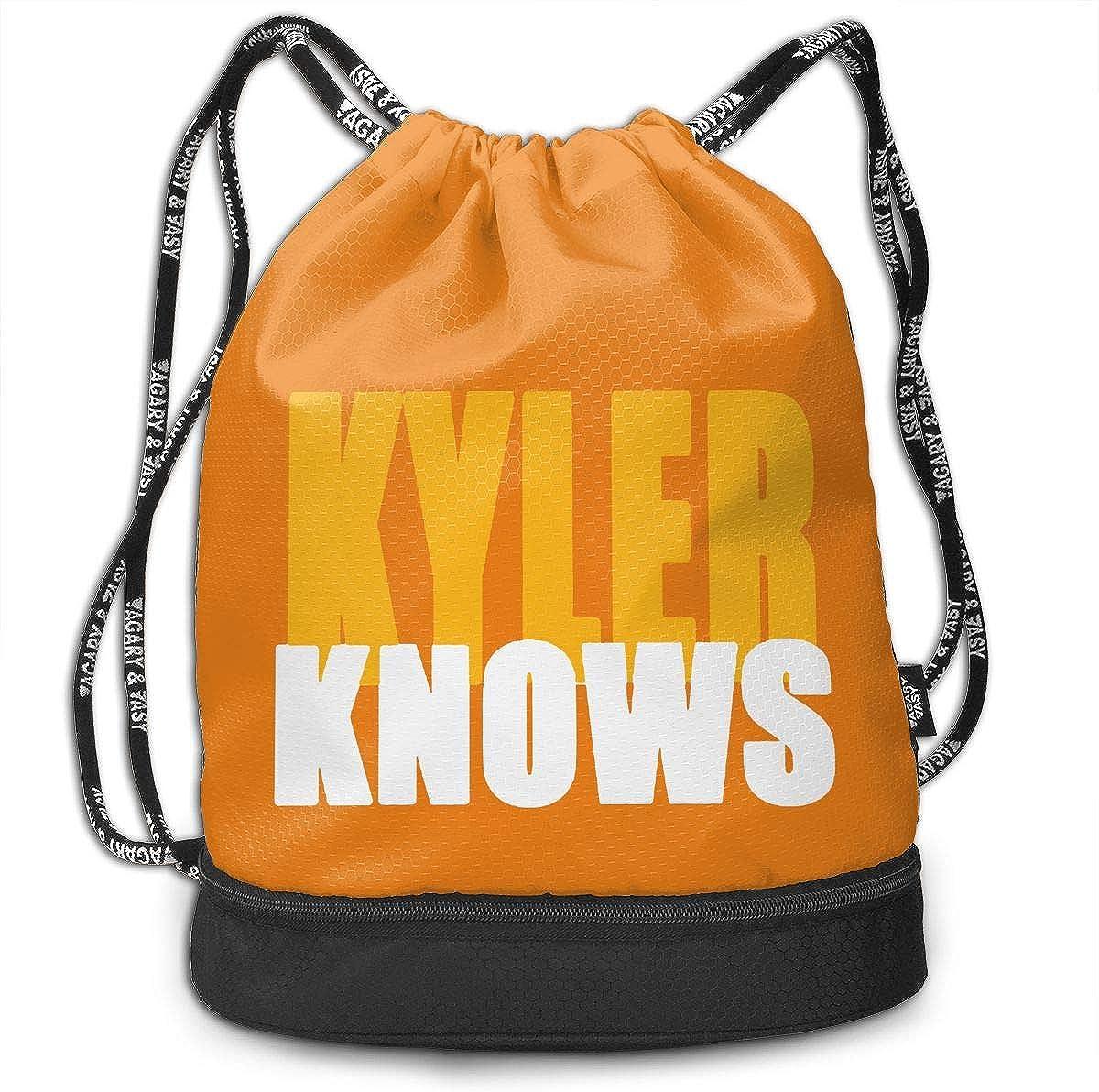 Drawstring Bag Green Oakland Kyler Knows Long Gym Bag Sport Backpack Shoulder Bags Travel College Rucksack