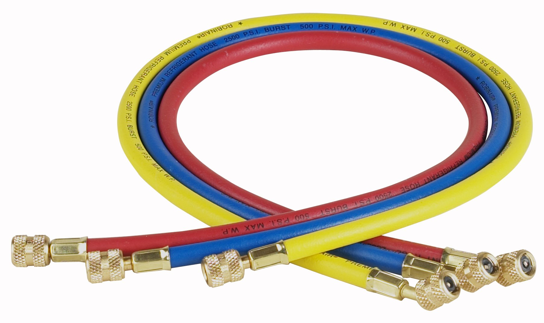 Robinair (30036) 1/4'' Standard Hoses with Standard Fittings Set - 36'', Set of 3