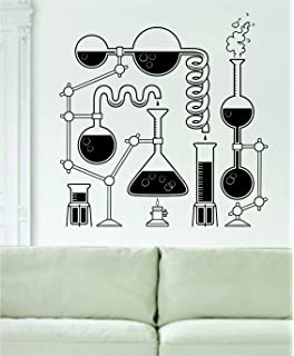 Science Beakers Design Decal Sticker Art Vinyl Geek Nerd School