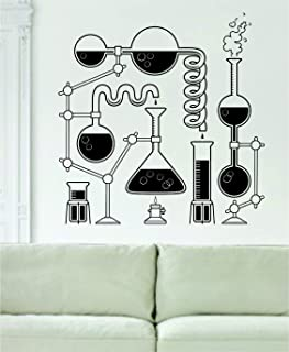 Science Beakers Design Decal Sticker Art Vinyl Geek Nerd School  sc 1 st  Amazon.com & Amazon.com: Eu003dMC2 Wall Decal Science Wall Art Stickers Einstein VWAQ ...