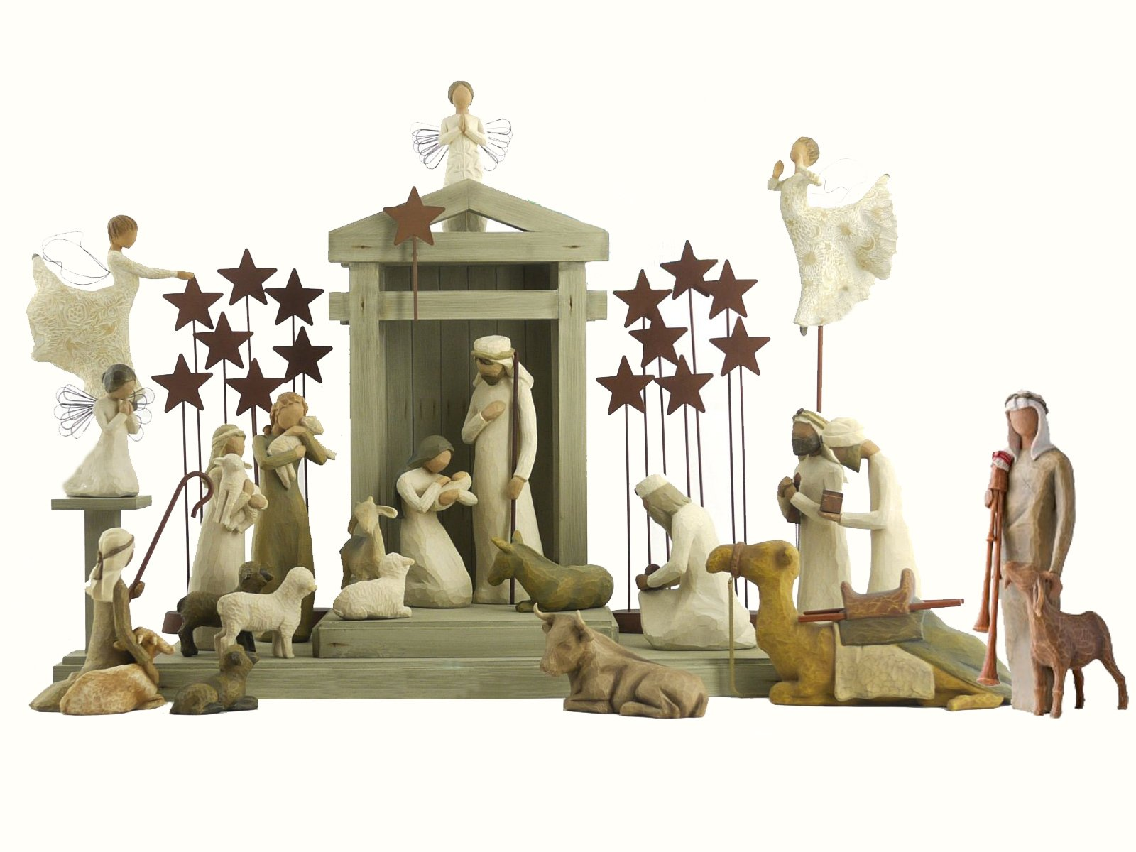 25 Pc. Willow Tree Nativity Package