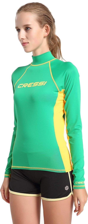 Cressi Rash Guard Lady Long SL Maillot Manches Longues UPF en Tissu /élastique sp/écial Protection Solaire UV 50+ Femme