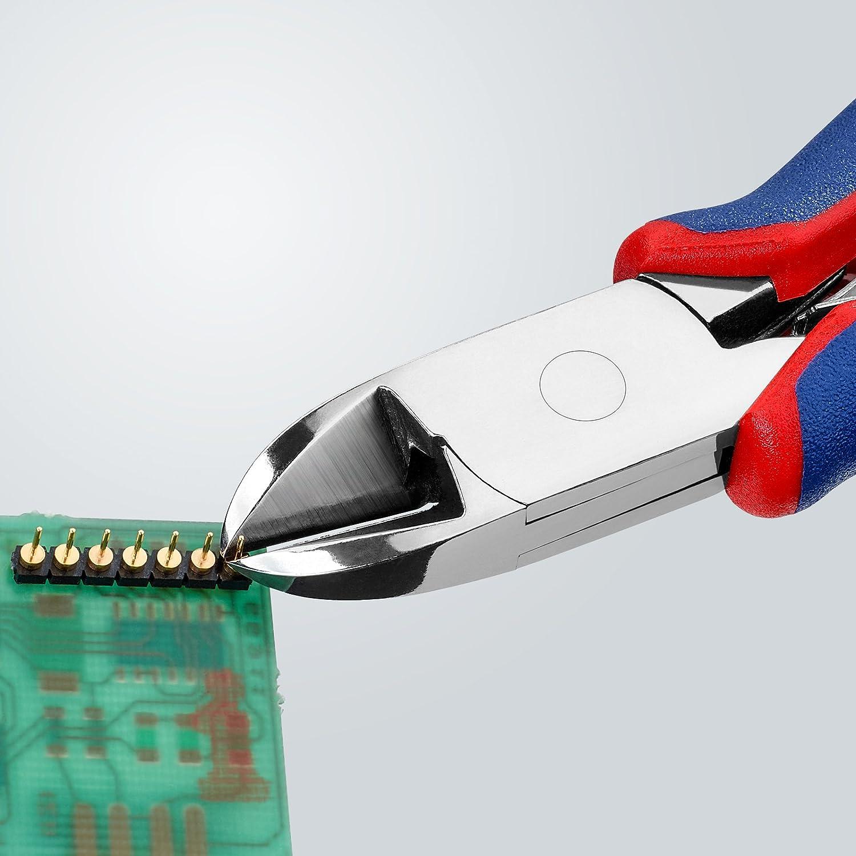 KNIPEX 77 22 130 Pince coupante de c/ôt/é pour l/électronique avec gaines bi-mati/ère 130 mm