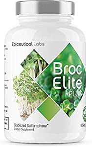 BrocElite PlusTM Broccoli Sulforaphane Extract Supplement for Immune Support, Mental Clarity, Chronic Inflammation, Environmental toxins, Non-GMO, 60 Capsules