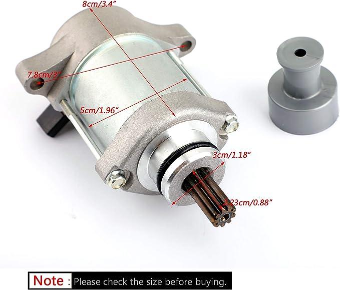 Artudatech Moto Motorini di Avviamento 12V Motorino di Avviamento Elettrica Motore Starter Motor per Apri-lia RXV 450 2006-2015 RXV 550 2006-2013 SXV 450