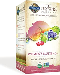 Garden of Life Multivitamin for Women - mykind Organic Women's 40+ Whole Food Vitamin Supplement, Vegan, 60 Tablets