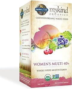 Garden of Life Multivitamin for Women - mykind Organic Women's 40+ Whole Food Vitamin Supplement, Vegan, 60 Tablets
