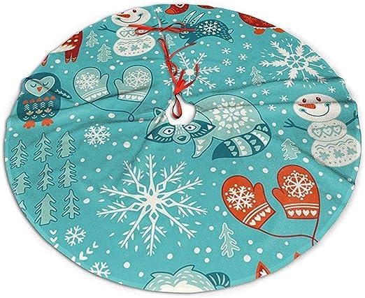 Árbol de Navidad Falda Navidad Bigfoot Muñeco de Nieve Ciervo ...