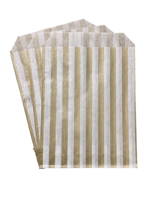 Packitsafe Bolsas de golosinas doradas, bolsa de papel a ...