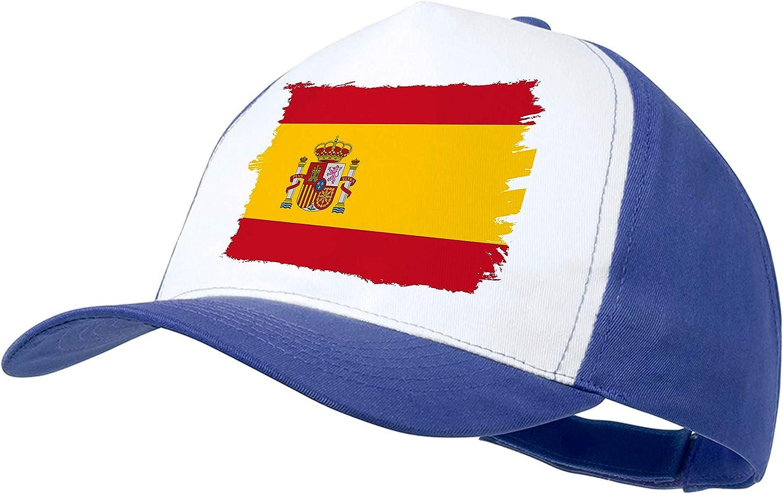 MERCHANDMANIA Gorra Azul Bandera ESPAÑA Pais Unido Color Cap: Amazon.es: Deportes y aire libre