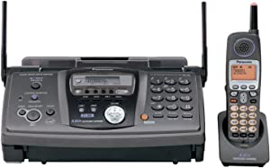 Panasonic KX-FG6550 2-Line, Plain Paper Fax/Copier with Expandable 5.8 GHz FHSS GigaRange Cordless Phone System with Digital Answering System,dark grey
