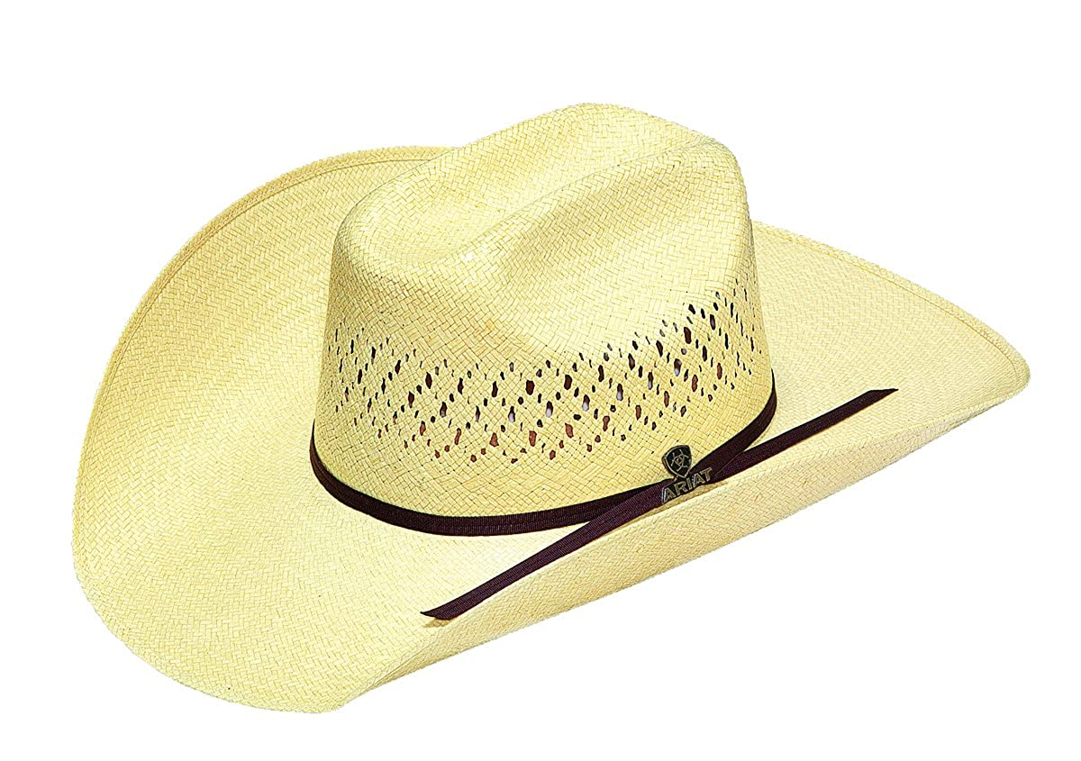 Ariat Men s 10X Maverick Double S Straw Hat at Amazon Men s Clothing store  cf3ef89c6f37