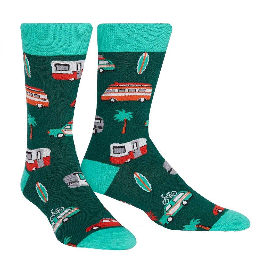 Sock It To Me - Herren Socken Day Tripper - lustige Herren Socken Urlaub Wohnmobil Palme Gr.42-47 One Size MEF0276