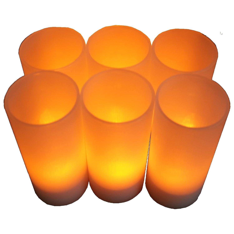 BlueDot Trading LED Battery Operated Rechargeable Tea Lights 12-Pack Rechargeable tea lights 12 pack Amber