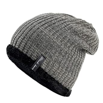 New Warm Fashion Winter Hat for Man Knitting Hat Cap Men Beanie Hat Cap  Elastic toucas Drop Shipping Black at Amazon Men s Clothing store  5fa59729af6a