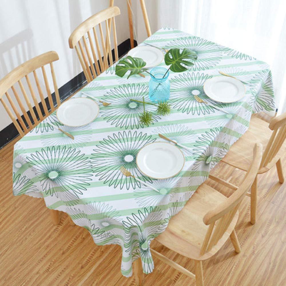 WJJYTX Wachstuch tischdecke, quadratische Tischdecke für Tischtücher PVC Tischtuch ölbeständig/wasserdicht schmutzabweisend Verbrühschutz Kaffeetischtuch Blume @ 90 * 150
