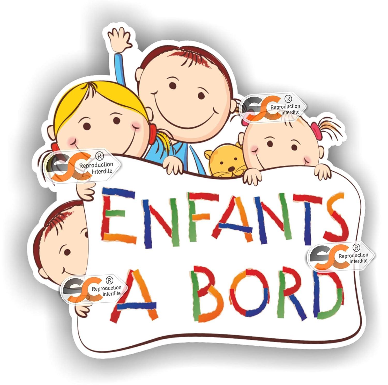 Sticker Enfants à Bord - Autocollant bébé à Bord SC