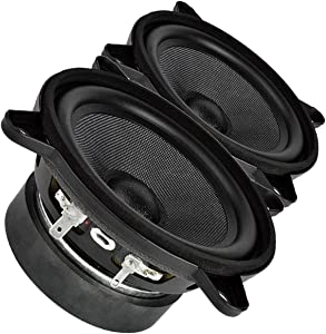 "Pair Faital PRO 4FE35 4"" Midrange Full-Range Woofer Speaker 4 ohms 60W 91dB"