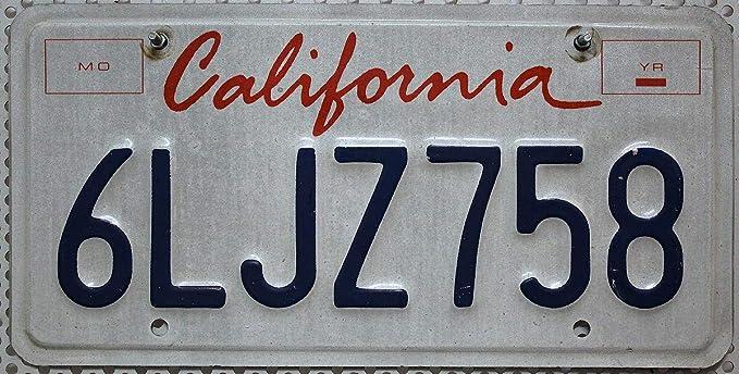 Usa Nummernschild California Us Kennzeichen Kalifornien License Plate Blechschild Auto