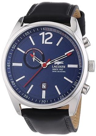 Lacoste Men s Wristwatch Leather Quartz Analog Austin XL 2010729   Amazon.co.uk  Watches aec42d83525