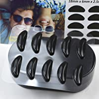 GMS Optical® 2.5mm Anti-slip Adhesive Contoured Soft Silicone Eyeglass Nose Pads with Super Sticky Backing - 5 Pair (Black)