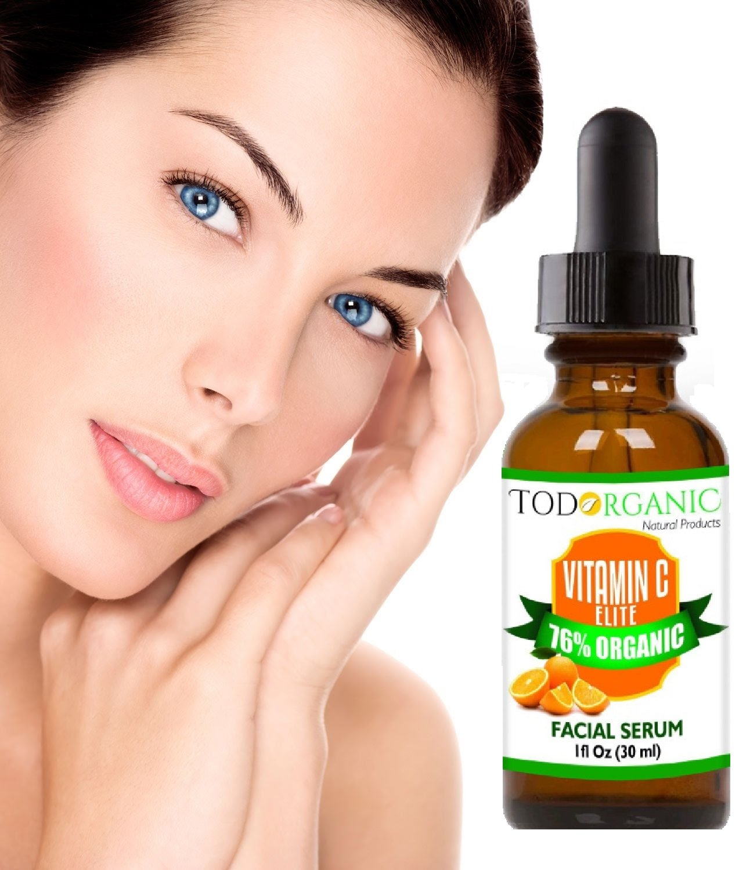 Amazon.com : Todorganic Suero de Vitamina C - 20% Con Acido Hialuronico y Vitamina E, Repara Daño Solar, Líneas finas, Manchas de la Cara, ...