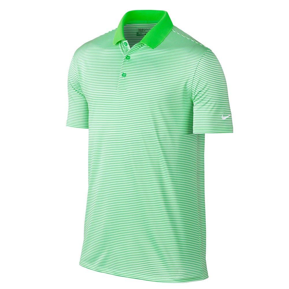 ナイキ ゴルフ DRI-FIT ヴィクトリー ミニ ストライプ 半袖ポロシャツ B01NA7DIKB Large|Green Strike/White Green Strike/White Large