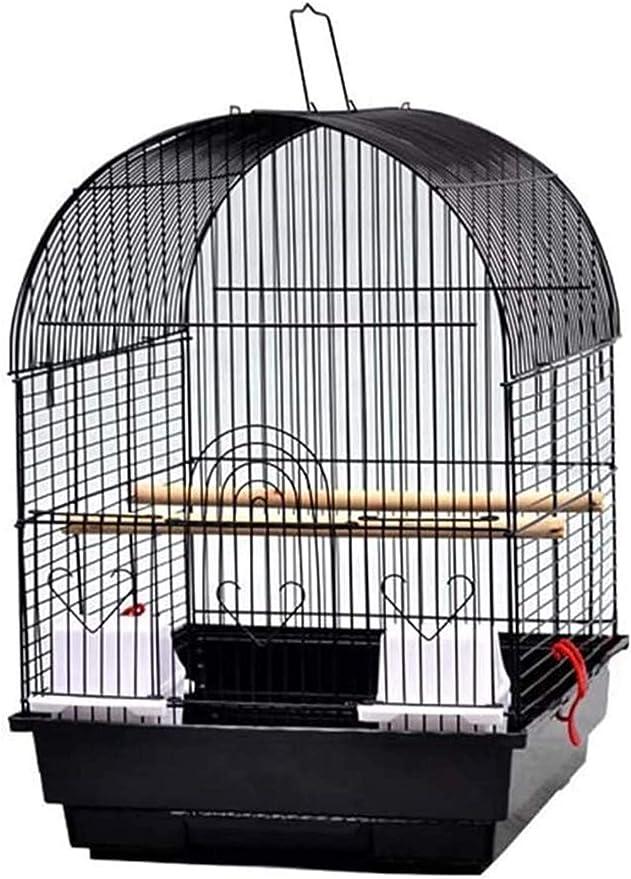 Jaula dpájaros duradera y ecológica, Jaula de pájaros de metal portátil de pájaro loro grande para cacatúa jaula de pájaros con caja de cría pájaros de tamaño pequeño, pájaros, jaula de viaje, amplia,