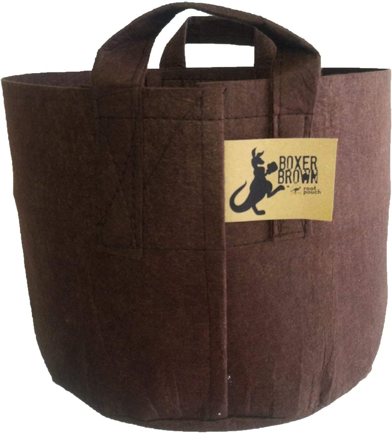 """Best Root Pouch (5 Gallon)(10 Pack)(11""""w x 10.25""""H) Garden Grow Bag Container With Handles. Grow Bigger and Healthier Tomatoes, Veggies and Herbs In Soft Pots."""