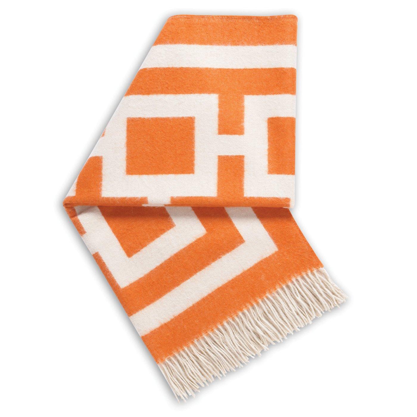 Jonathan Adler Richard Nixon Throw, Orange/Natural