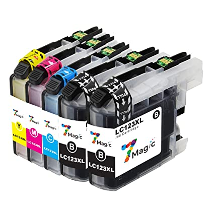 7Magic Cartucho de Tinta Compatible con Brother LC123XL LC123 con ...